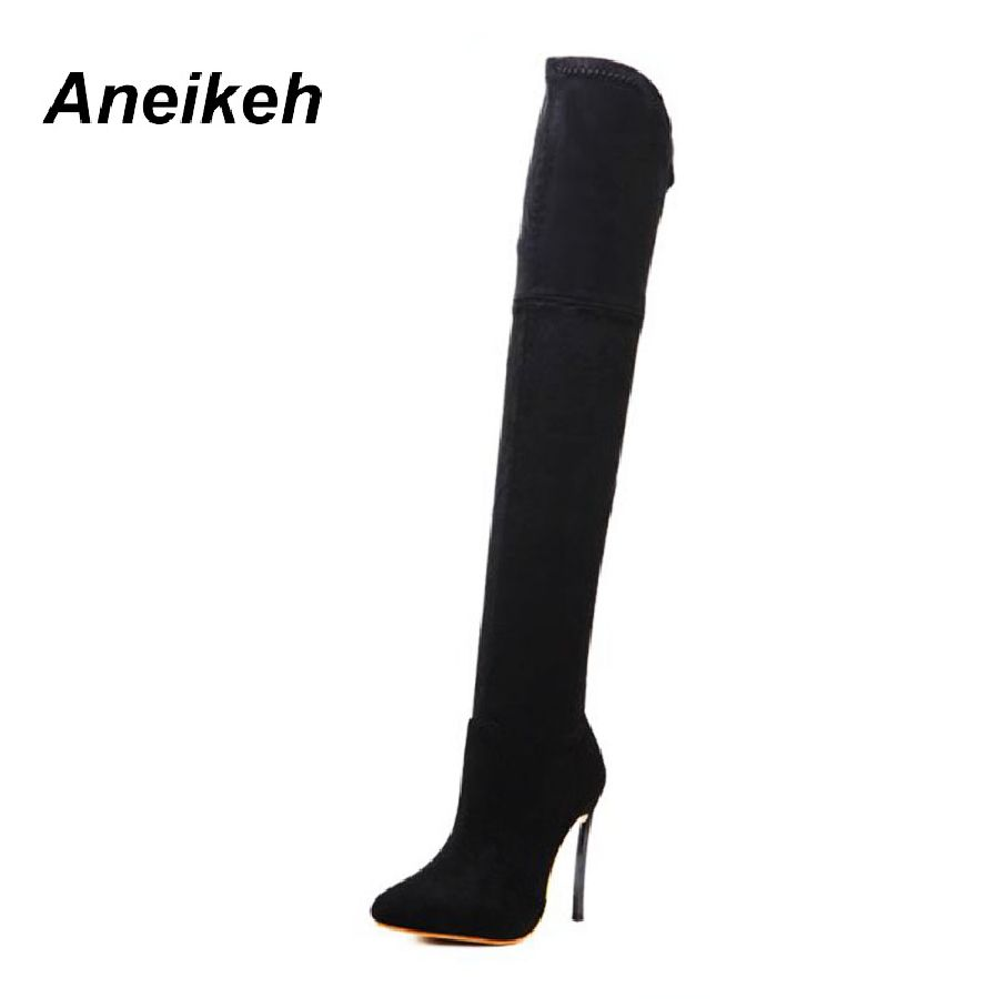 2018 Springautumn Women Boots Stretch Slim Thigh High Boots Fashion